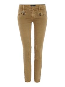 Zip pocket jodhper jeans