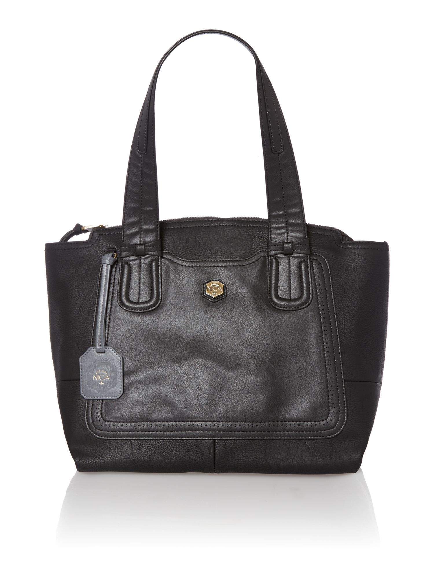 Celina black tote bag