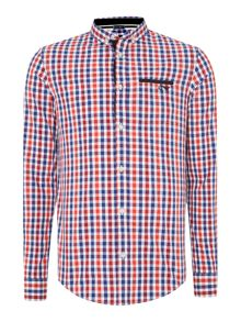 1 pocket gingham shirt