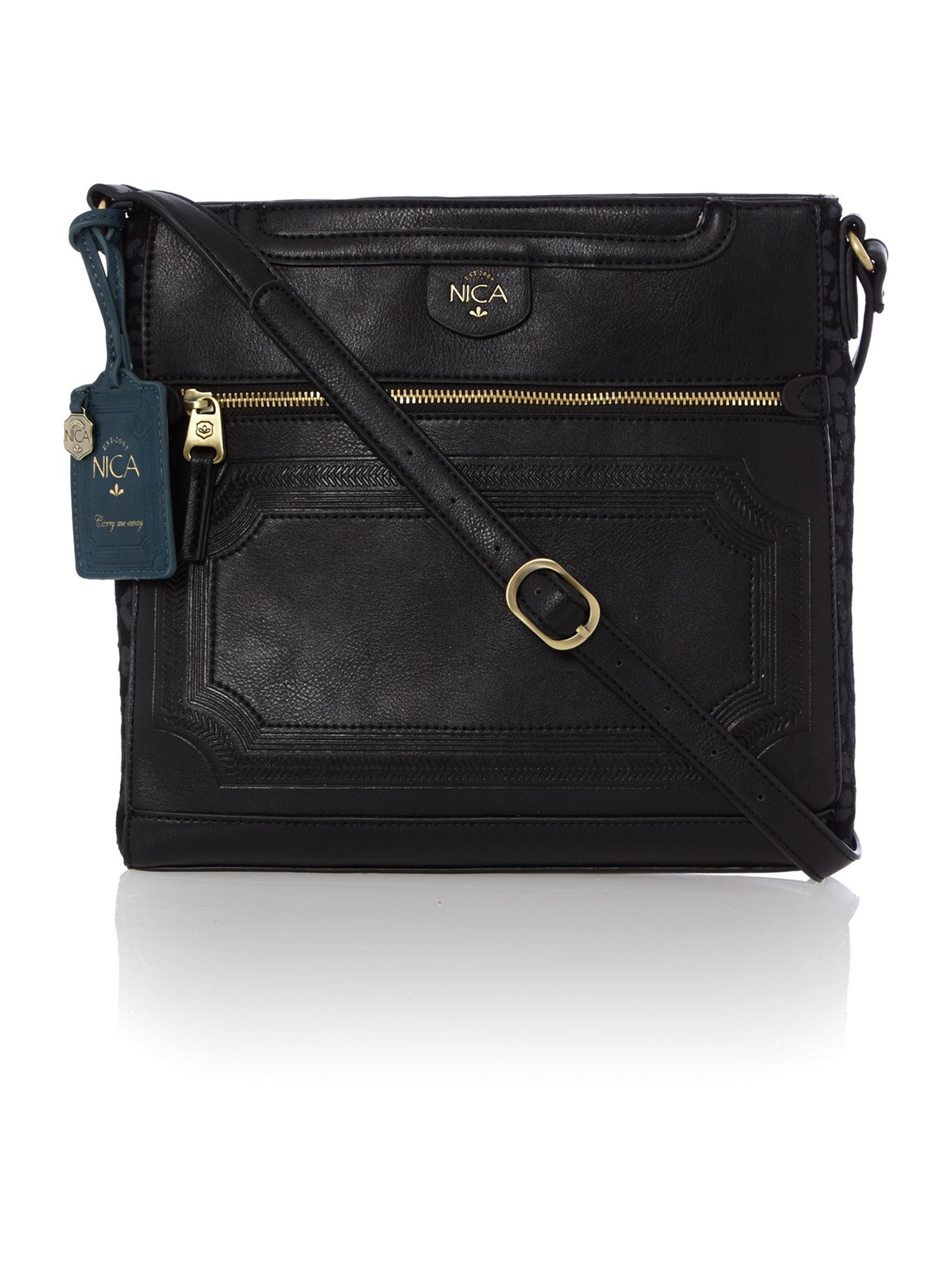 Lauren black large cross body bag
