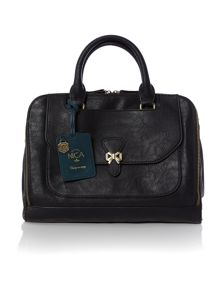 Lizzy black pocket tote bag