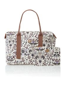 Grace multi coloured print weekend bag