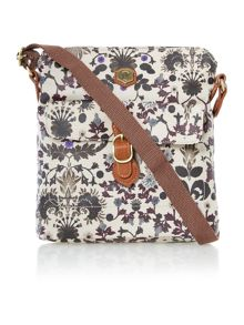 Hazel multi coloured print crossbody bag