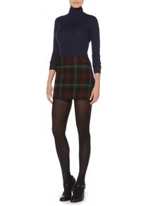 Tartan wool mini skirt