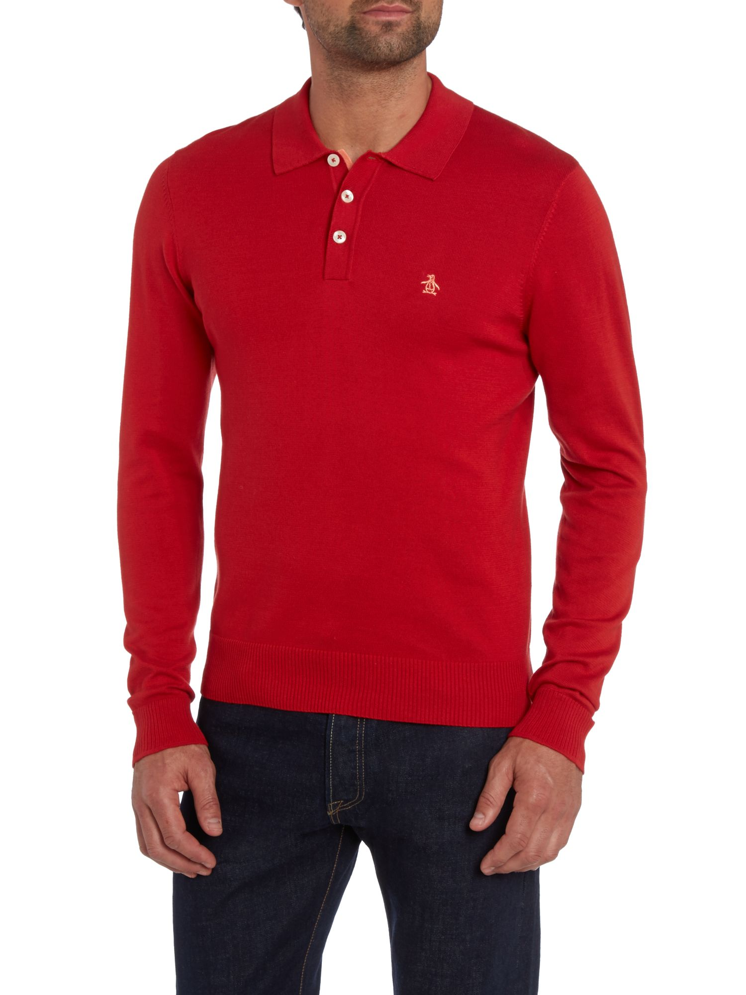 Long sleeve plain polo