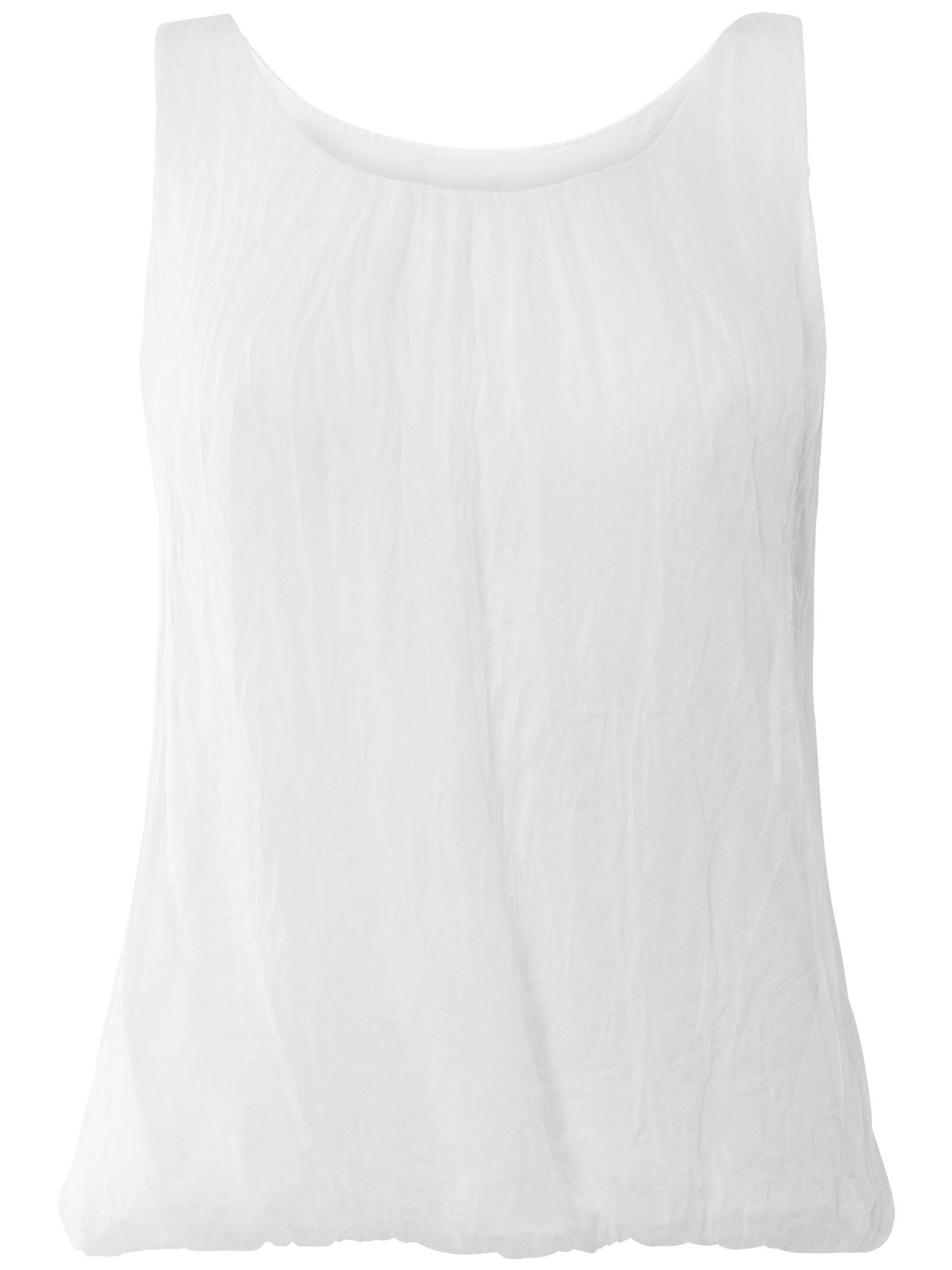 Lua sleeveless silk blouse