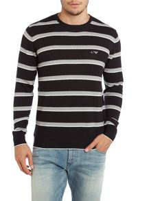 Crew neck thin stripe jumper