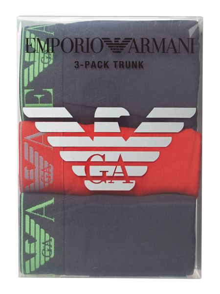 Emporio Armani 3 pack exclusive underwear trunk