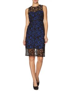 Allover lace sleeveless dress