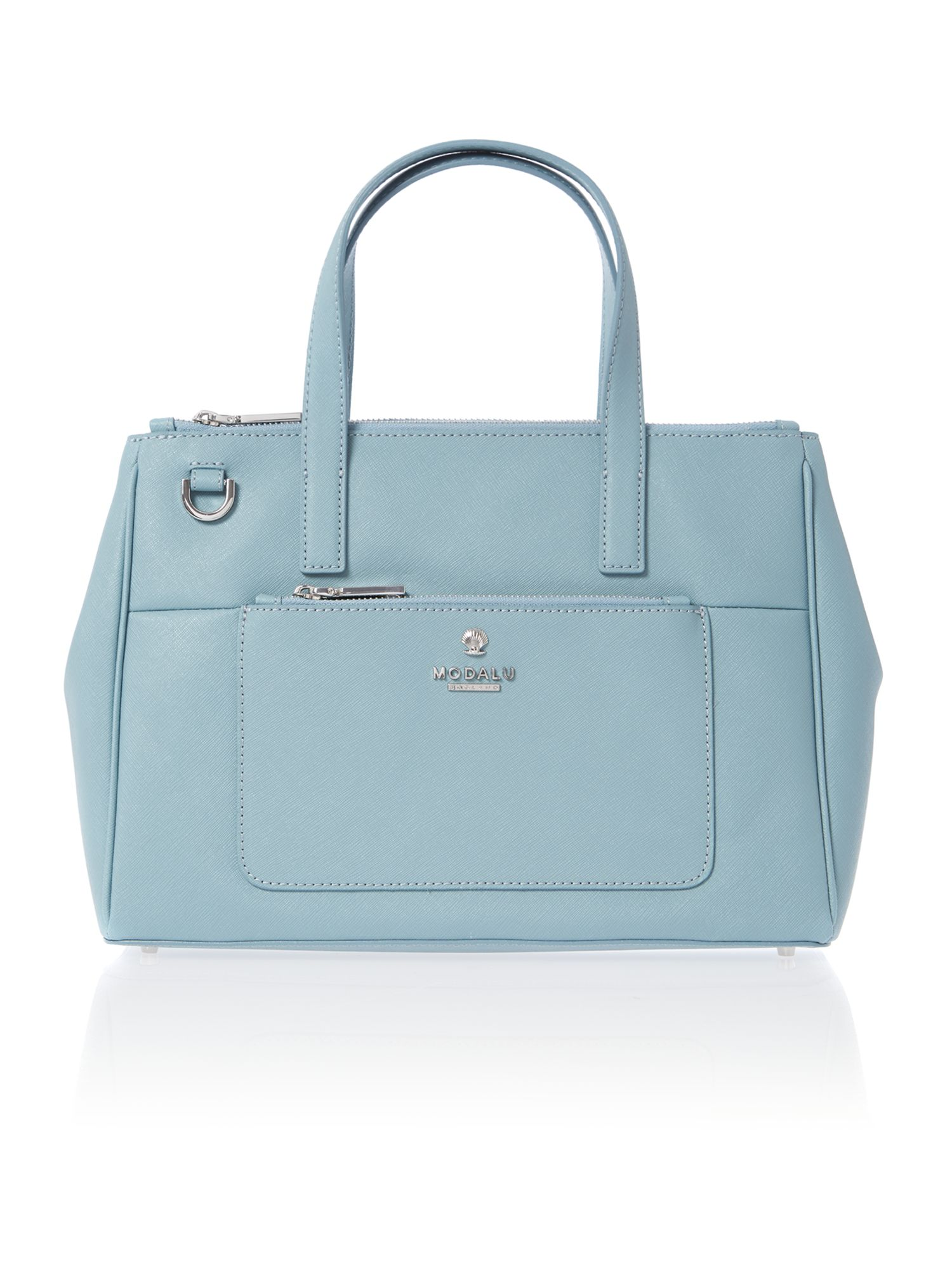 Phoebe blue medium saffiano tote bag