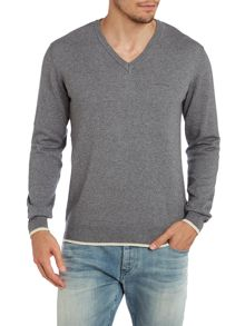Armani Jeans V neck wool cotton mix jumper