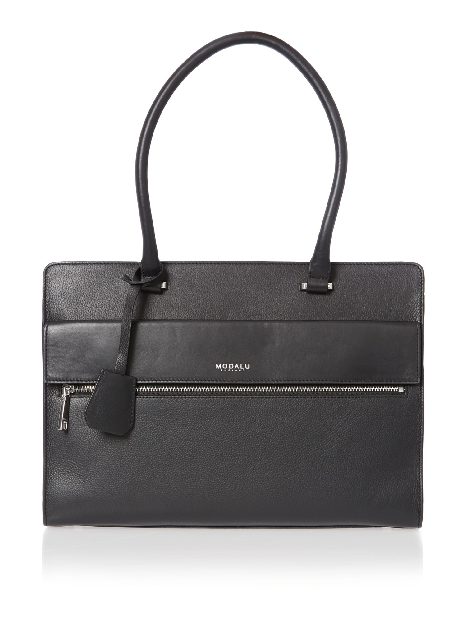 Erin black large pocket tote bag