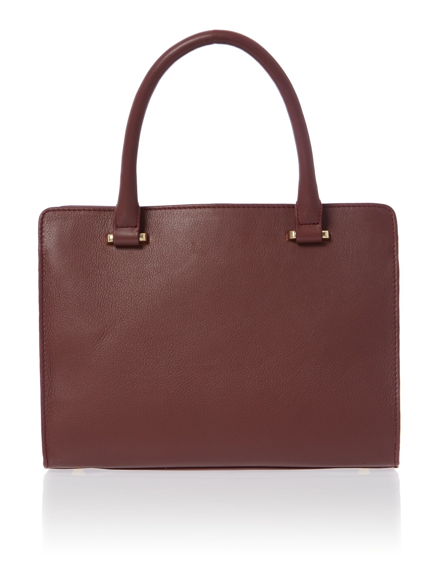 Erin burgundy small pocket tote bag
