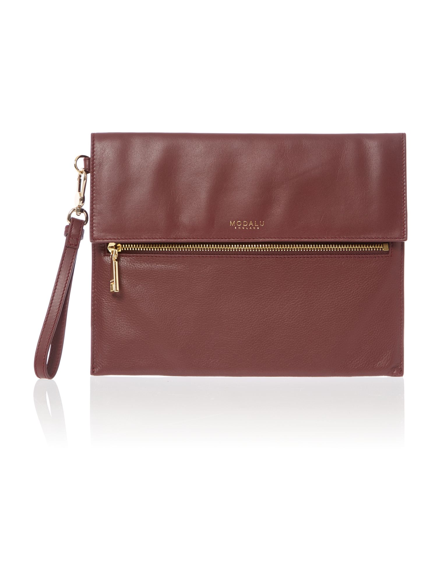 Erin burgundy clutch bag
