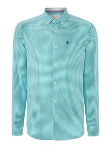 Gingham heritage fit long sleeve shirt