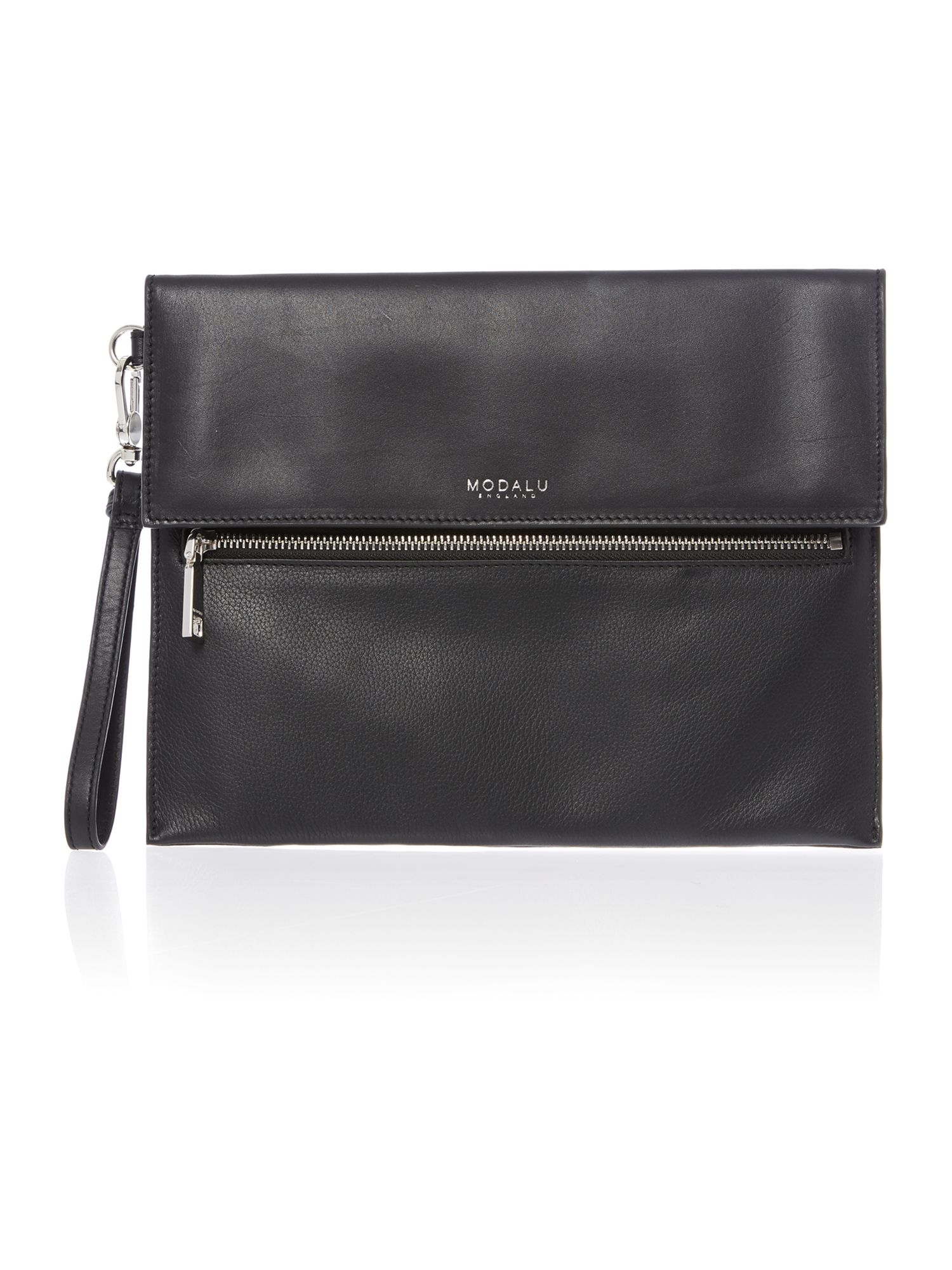 Erin black clutch bag