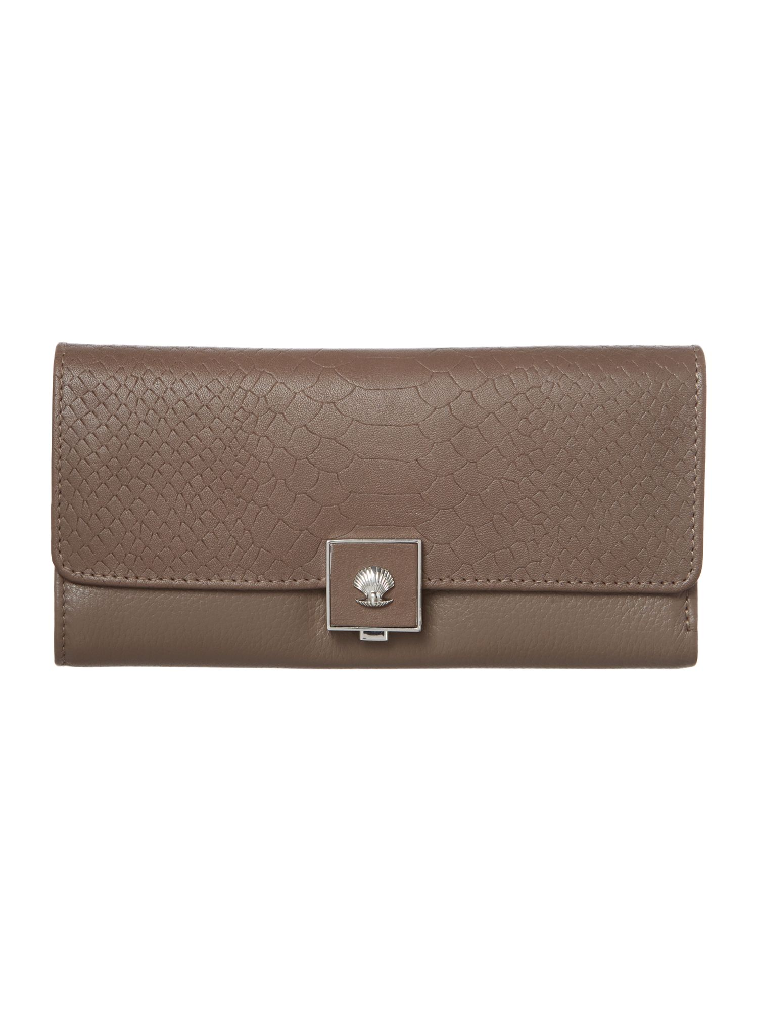 Parker grey large flap over purse