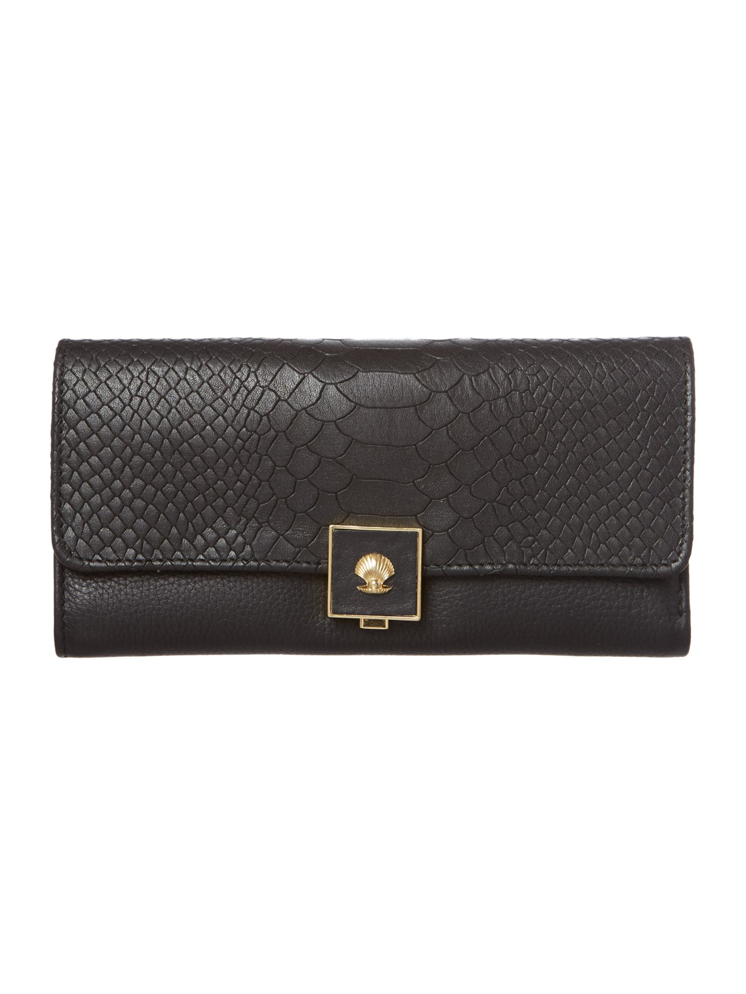 Parker black large flap over purse