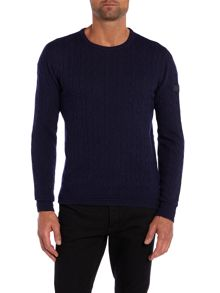 All over cable knit jumper