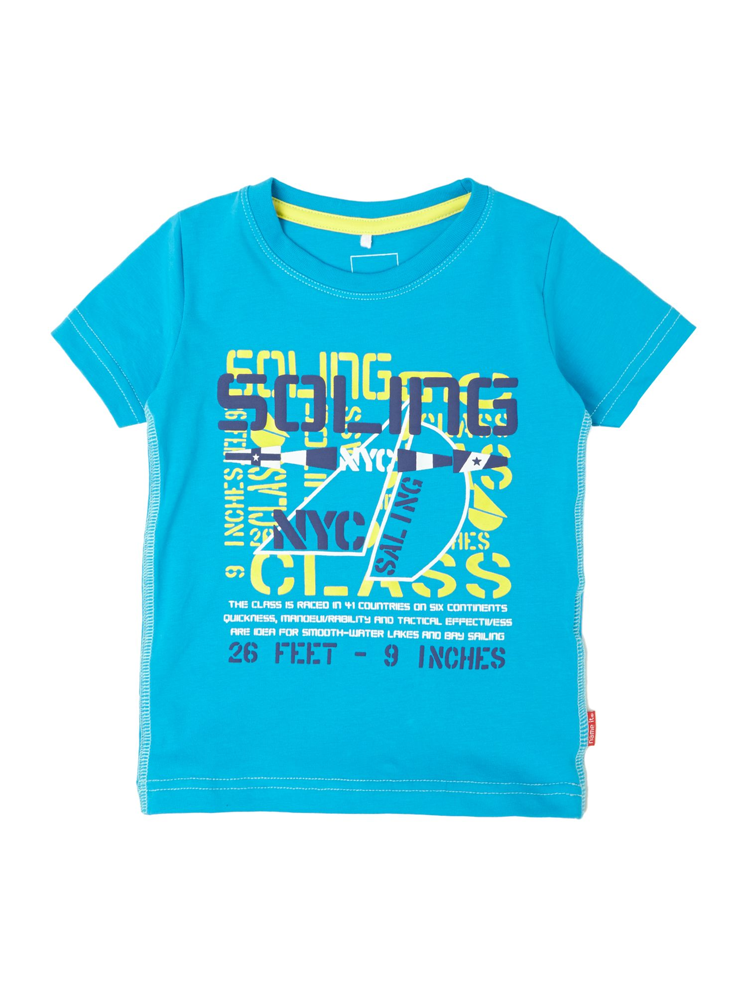 Boys sailing graphic t-shirt