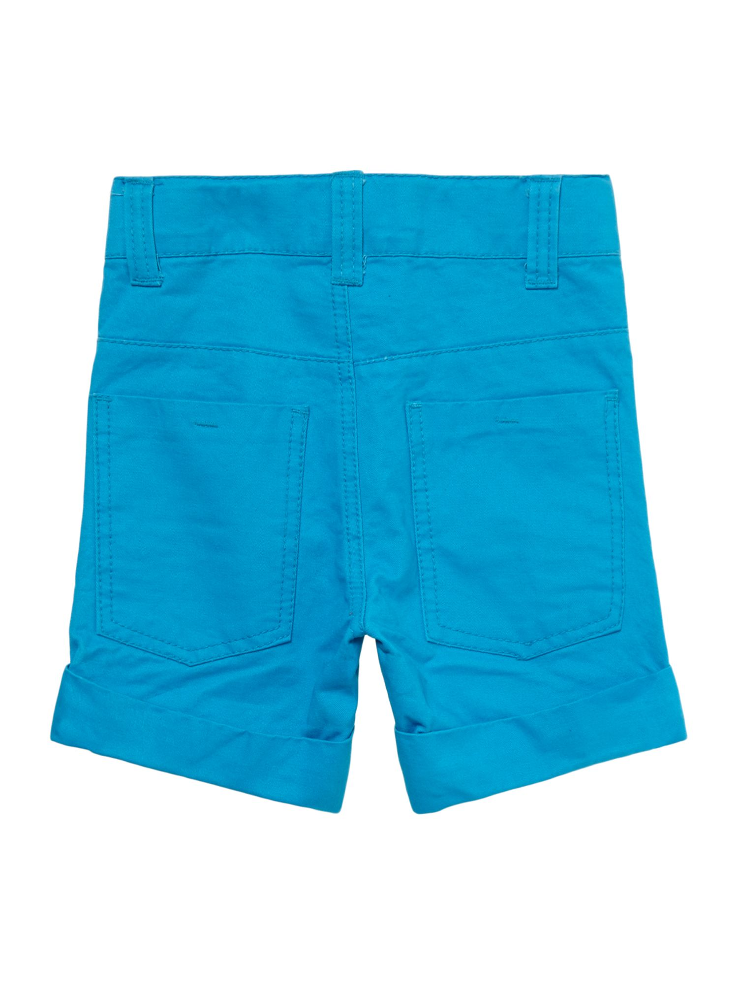 Boys colourblock short with turn-up