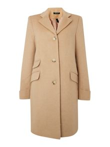 Wool single breast pocket detail coat