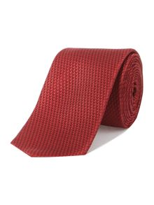 Textured square slim tie