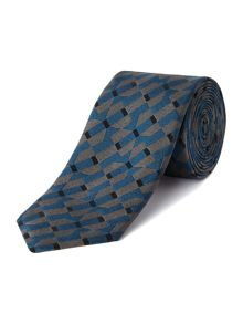 Large geometric slim tie