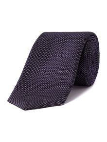 Circle textured slim tie