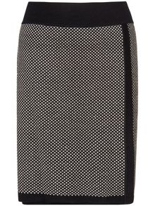 Juliana jacquard spot skirt