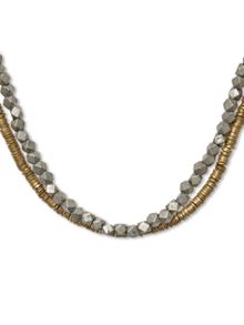 Double Layer Plaited Necklace
