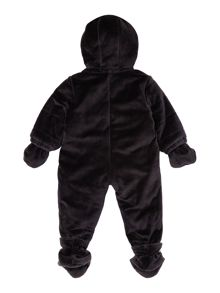 Babys snowsuit with detachable feet & mittens
