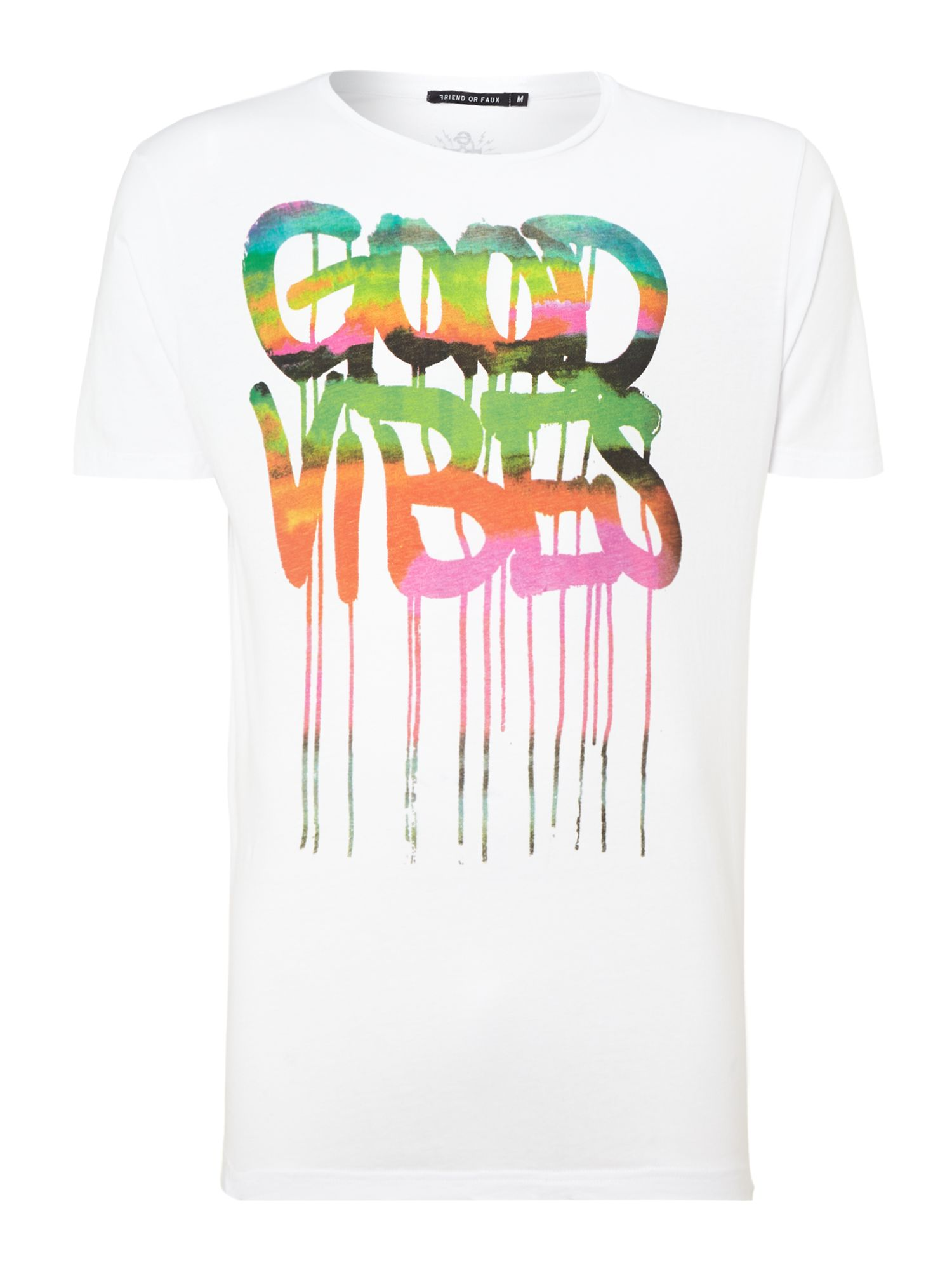 Good vibes print t shirt