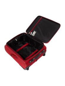 Axial red 2 wheels soft cabin suitcase