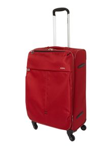 Delsey Axial red 4 wheels soft medium suitcase