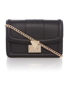 Countess black mini chain cross body bag