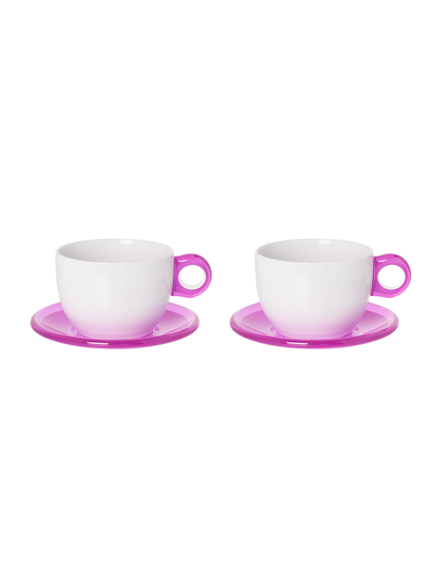 Set of 2 Cappuccino cups with Saucers Violet