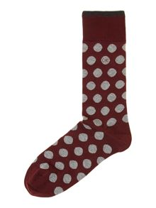 Polka dot egyptian cotton sock
