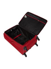 Axial red 4 wheels soft large suitcase