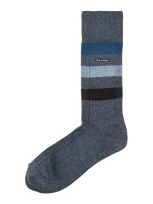 Wide stripe reverse channel sock