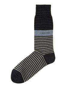 Bold striped cuff sock