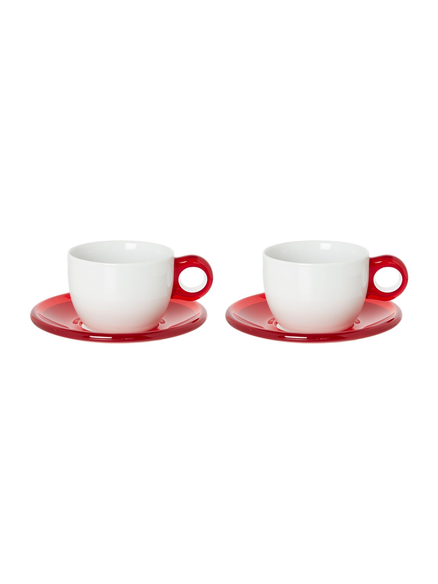 Set of 2 Cappuccino cups with Saucers
