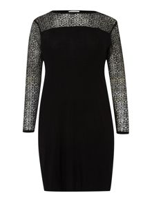 Marina Rinaldi Plus Size Gio lace sleeve shift dress