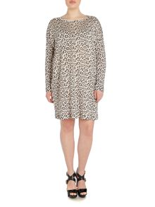 Marina Rinaldi Plus Size Ancona animal print jumper dress