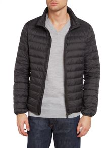 Two pocket zip up down jacket