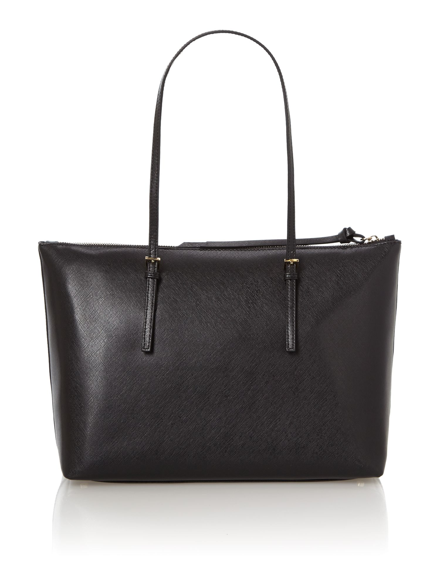 Betty black zip top tote