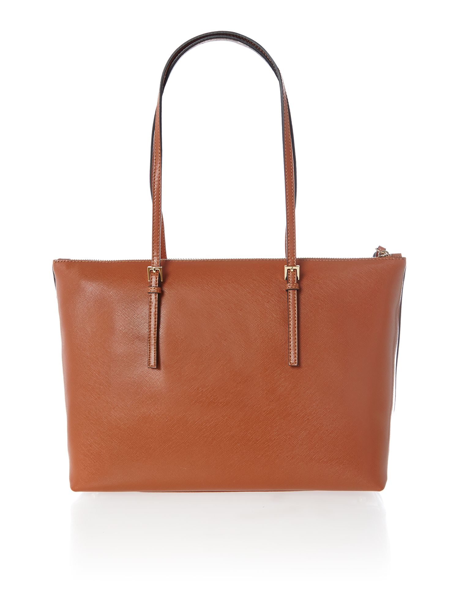Betty tan zip top tote