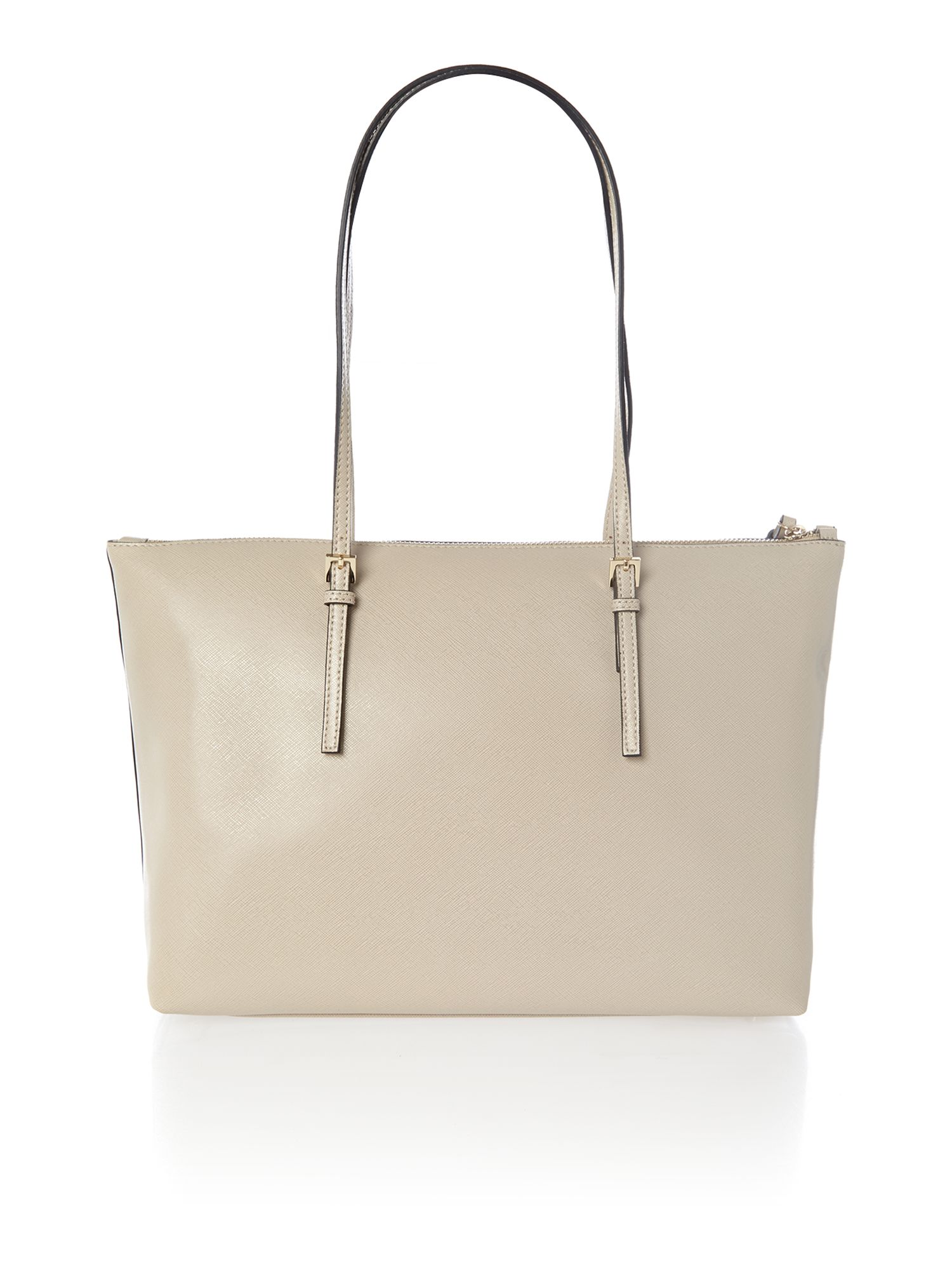 Betty neutral zip top tote