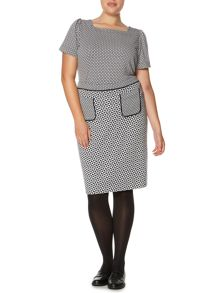Plus Size Mono taz ponti skirt