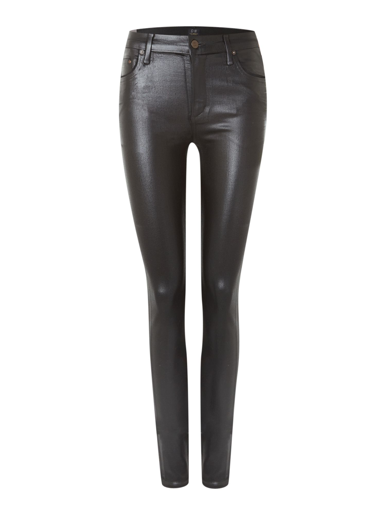 Rocket high rise coated skinny jeans